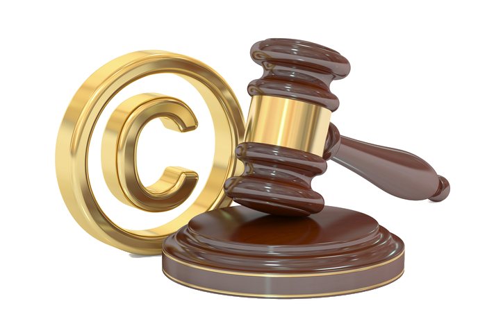 Image of a copyright symbol and gavel