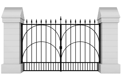 Image of a modern gate
