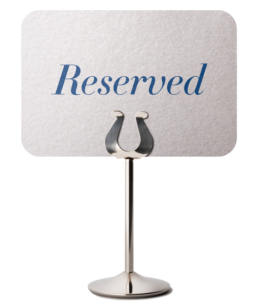 Image of a reserved sign