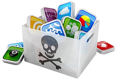 Image of a pirated software apps