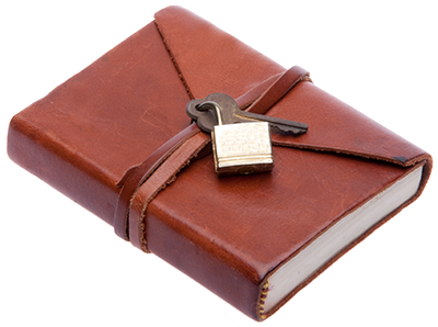 Image of a leather-bound notebook